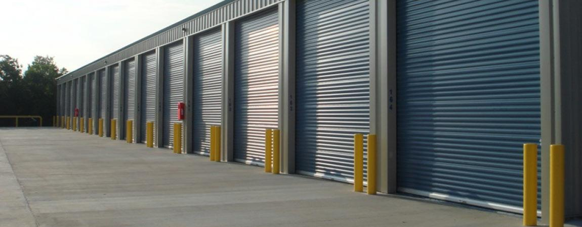 Tall commercial storage garages